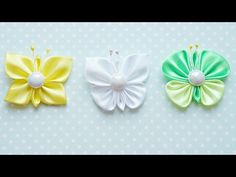 Ободок из бутонов и ягод Канзаши / Hairband Flowers Kanzashi / DIY - YouTube