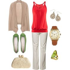 Spring casual, created by caseymichele22 on Polyvore
