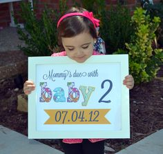 Pregnancy announcement 11x14 sign Mommy's due by prettyprintsshop, $14.00