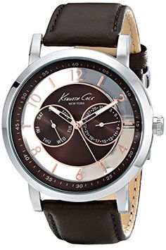 Men's Wrist Watches - Kenneth Cole New York Mens KC8080 Dress Sport Analog Display Analog Quartz Brown Watch -- Check out this great product.