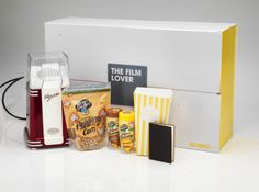 Selfridges' Film Lover gift box - £65 Christmas Gift Guide, Christmas Gifts, Champagne, Presents, Packaging, Film, Drinks, Box, Winter