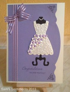 Made using the Dress Up framelits from Stampin' Up