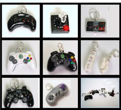 Video Game controller charms and pendants - hand made!