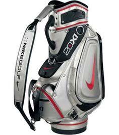 e46cc71201 Nike Staff Cart Golf Bag - Silver   Sunday Red-Black