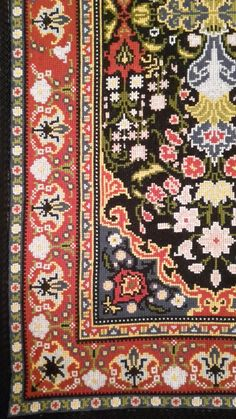 Cross Stitching, Cross Stitch Embroidery, Embroidery Patterns, Cross Stitch Patterns, Big Rugs, Patterned Carpet, Loom Beading, Animal Design, Needlework