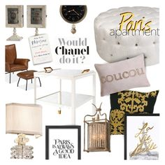 """Paris Apartment"" by stacey-lynne ❤ liked on Polyvore featuring interior, interiors, interior design, home, home decor, interior decorating, Serena & Lily, Corbett Lighting, Est. 98 and Americanflat"