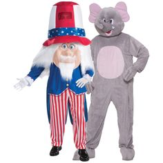 Elephant & Uncle Sam Couples Costume