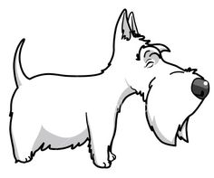 Scottish terrier Royalty Free Stock Vector Art Illustration