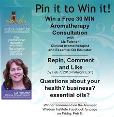 Win a free 30 minute #Aromatherapy Consultation with Liz Fulcher