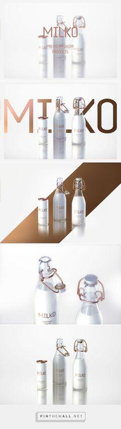 MILKO - Premium Dairy Products Concept packaging designed by WaldemarArt Design Studio - http://www.packagingoftheworld.com/2015/08/milko-premium-dairy-products-concept.html