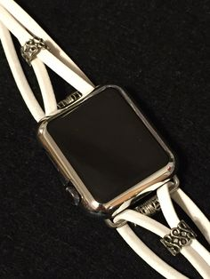 A design above the rest! Please continue reading to understand why...  Love your Apple Watch even more! TimeKitsUSA exclusively sells and focuses on designing and creating beautiful, feminine Apple Watch bands. All of our bands fit the original Apple Watch and the Apple Watch 2.  Were the future of customized Apple Bands. Stretch bracelet bands, like we used to sell - and like most offered on Etsy - may break over time due to repeated use. We redesigned our traditional stretch bracelet bands…