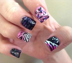 Pink & black criss cross Cheetah
