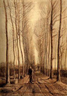 Avenue of Poplars, 1884 Vincent van Gogh