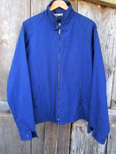 does Sears Sportswear Navy Windbreaker Jacket, Men's L // Vintage Crop Lined Jacket Men Store, Line Jackets, 1950s Fashion, Windbreaker Jacket, Preppy, Sportswear, Two By Two, Plaid, Tartan