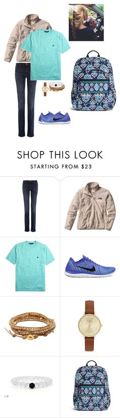 """""""School? Not okay."""" by nailsforashleywest on Polyvore featuring 7 For All Mankind, Brooks Brothers, NIKE, Chan Luu, Skagen and Vera Bradley"""