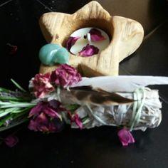 Handmade flower garden smudge sticks.  Just loved making these