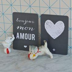 carte postale Coeur ardoise Cinqmai - deco-graphic.com