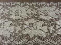 White Lace Fabric Trim 6 wide Bridal Lace Floral Lace by BurlapUSA