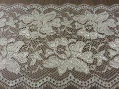 White Lace Fabric Trim 6 wide Bridal Lace Floral Lace by BurlapUSA