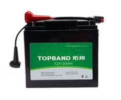 12V24Ah TOPBAND LiFePO4 lithium battery