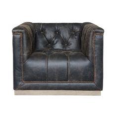 maxx distressed black leather swivel club chair