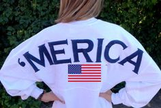 I kind of really want this lol Merica Oversized Spirit Jersey with Monogram by AmericanGirlStyles, $55.00 love.