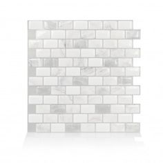 smart tiles Ravenna Roma in W x in H Gray Peel and Stick Self-Adhesive Mosaic Wall Tile Backsplash - The Home Depot Stick On Wall Tiles, Peel Stick Backsplash, Mosaic Wall Tiles, Peel And Stick Tile, Smart Tiles Backsplash, Backsplash Wallpaper, Home Depot, Credence Adhesive, Splashback Tiles