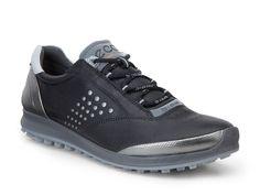 Ecco Ladies BIOM Hybrid 2 Golf Shoe - Black/Silver - Puetz Golf