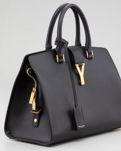 Saint Laurent Y Ligne Medium Textured Bag, Black - Neiman Marcus