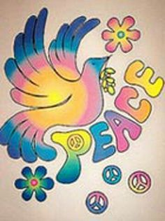 ☮ American Hippie Psychedelic Art ~ Peace