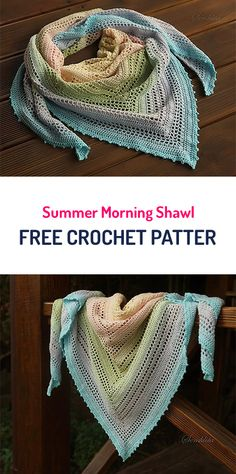 Summer Morning Shawl Free Crochet Pattern #crochet #yarn #style #fashion #crafts