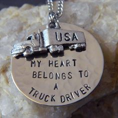 My+Heart+Belongs+to+a+Truck+Driver+Handstamped+by+WireNWhimsy,+$28.00
