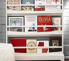 Madison 3-Shelf Bookrack #pbkids - I like this for the reading corner but in Espresso.
