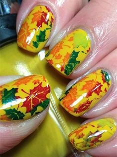 Autumn & Fall Inspired Nail Art Designs, Trends & Ideas For Girls 2013/ 2014