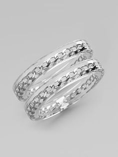 handcrafted bangle with chain
