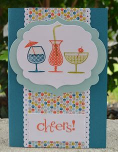Card of the Month  Happy Hour  Stampin' Up!  Christie's Creative Corner
