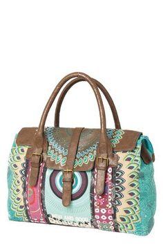 sac coloré, en coton enduit, de chez Desigual