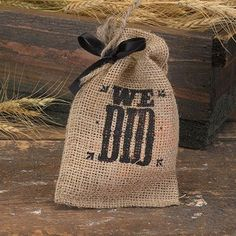 "Perfect for your Western Wedding. Burlap favor bags with twine drawstring closure. We Did design printed in black, includes 3/8"" black satin ribbon. 4"" x 6"". Package of 25."