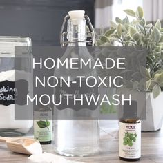 If you are looking for more natural, non-toxic ingredients in your mouthwash, here's how to easily make your own with just a few ingredients that you may already have in your pantry. #FrenchBeautySecrets Beauty Care, Diy Beauty, Beauty Skin, Beauty Advice, Beauty Guide, Beauty Ideas, Beauty Secrets, Beauty Tricks, Homemade Mouthwash