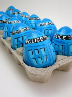 Doctor Who Tardis Easter Egg hand painted on Etsy, $6.50 AUD