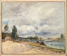 Banks of the Seine by @artistsisley #impressionism