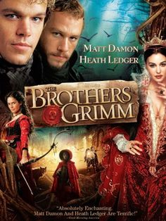 The Brothers Grimm - Terry Gilliam. With Matt Damon, Heath Ledger, Monica Bellucci, Petr Ratimec. Will and Jake Grimm are traveling con-artists who encounter a genuine fairy-tale curse which requires true courage instead of their usual bogus exorcisms. Streaming Movies, Hd Movies, Movies To Watch, Movies Online, Movies And Tv Shows, Film Watch, Movies Free, Indie Movies, Hd Streaming