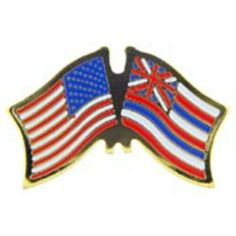 """American & Hawaii Flags Pin 1"""" by FindingKing. $8.50. This is a new American & Hawaii Flags Pin 1"""""""