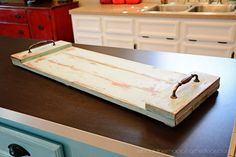 Easy-to-Make DIY Kitchen Tray   Simple project that's budget friendly and can be made in a couple of hours.