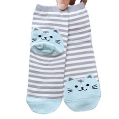 Socks  New brand 2015 Hot 3D Animals Striped Cartoon Women Cat Footprints Cotton Socks ** View the fitness item in details by clicking the VISIT button