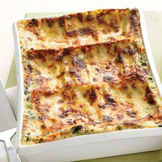 Layered with delicate veggies, a creamy sauce, and three cheeses, this lasagna captures the freshness of spring  straight from the freezer.