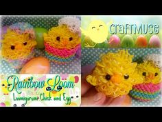 Rainbow Loom Loomigurumi Chick and Egg - YouTube
