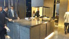 The dreams kitchen by Porcelanosa Group. Black & stylish.   Pav. 26.  #MCaroundCersaie #Cersaie