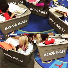 Book boat flexible seating - great for sensory kids too Not sure how practical this would be but nice idea! Classroom Design, Future Classroom, Classroom Organization, Classroom Management, Classroom Decor, Classroom Libraries, Creative Classroom Ideas, Year 2 Classroom, Kindergarten Classroom Setup