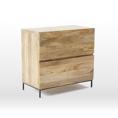Made from richly-grained solid mango wood and lofted on blackened metal legs, our Industrial Modular Desk combines form, function and versatility. It comes with an attached box file with deep drawers for storing letter and legal files and a low bo… Office Storage Furniture, Home Office Storage, Home Office Organization, Home Office Decor, Interior Office, Office Ideas, Furniture Buyers, Shop Organization, Office Workspace